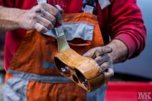 Honda CB50 wood osmo oil MotoKustoms
