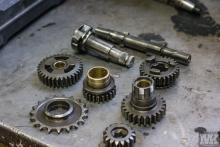 NSU OSL 251 gearbox restoration Moto Kustoms