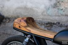 Honda Cb50 wood deatail seat osmo oil CafeRacer MotoKustoms