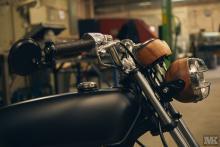 Honda Cb50 wood detail CafeRacer MotoKustoms