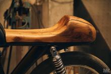 Honda Cb50 seat wood detail osmo oil CafeRacer MotoKustoms