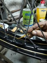 NSU OSL 251 stripes restoration Moto Kustoms Mack brushles