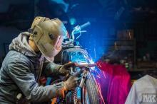 Honda Cb50 welding CafeRacer MotoKustoms
