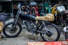 Honda CB50 seat wood