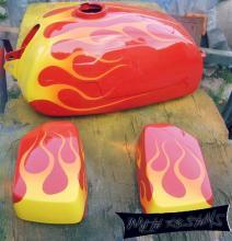 резервоар с пламъци